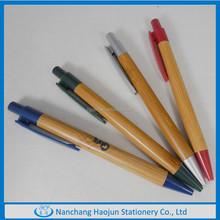 Shiny Wooden Ball Pen In Straight Barrel
