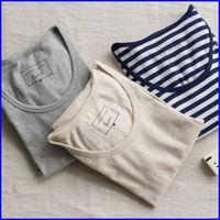 OEM custom 100 cotton plain long length t- shirts for girls bulk blank t-shirts
