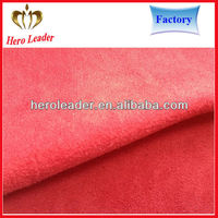 Plain pattern customized warp suede fabric for dress