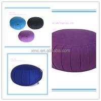 Sollid color organic cotton fabric Easy taking carrying handle buckwheat floor cushion