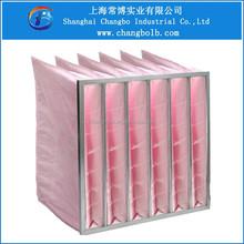 air handling units synthetic pocket filter/multi-pocket bag filter