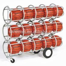 optional KD wheeled basketball display rack
