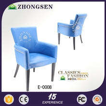 luxury Nubuck leather metal armchair room to eat foshan used hotel banquet chair