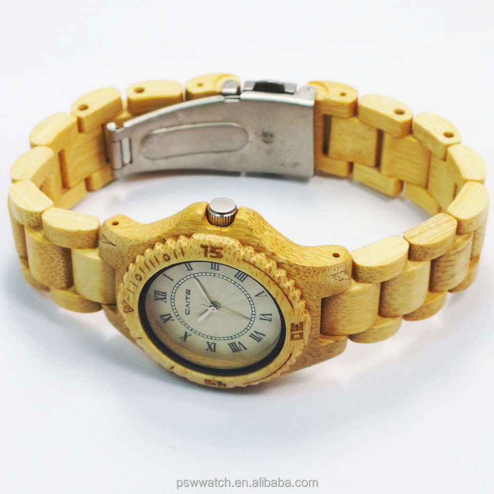 2015 Shenzhen PSW factory new design watch bamboo wooden watch for fashion men and lady