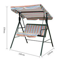 double swing set / garden swing / garden swing chair
