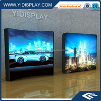 LED backlit outdoor aluminum snap frame advertising picture frame fabric light box