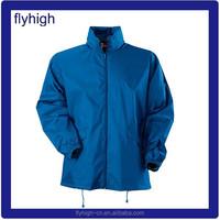 Men's cheap polyester water proof wind proof rain jacket