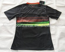 wholesale 2015 Portugal nation team football black away soccer jersey shirt Roanaldo / PEPE top thai quality