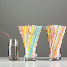 Flexible Straws Bendy Straws Drinking Party Kids Bendable Plastic Transparent Color Striped
