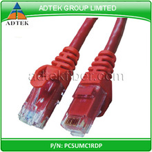 Factory direct sale 4pr 24AWG BC cat5e UTP patch cord lan cable with RJ 45 connectors