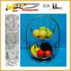 JBL metal wire fruit baskets, metal material with chrome finish, 2 layers, for hanging fruit