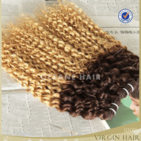 New coming!China wholesale most popualr can be dyed afro kinky curly virgin hair ombre weave extension