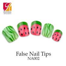 Girl Dress Nail Art Design Fake Nail Tips Cute Artificial Fingernails NA002