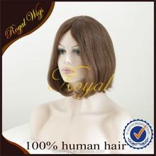 Short Bob Style Virgin Brazilian Hair Highlighted Jewish Wigs(Sheitel)