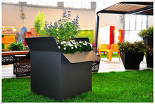 Luxury Hotel Decoration Powder Coated Metal Flower Pots Wholesale