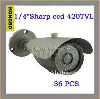 "1/4""Sharp ccd 420TVL CCTV Waterproof Surveillance Camera with 3-axis Bracket cctv camera"
