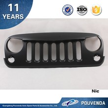 High quality ABS Grille For Jeep Wrangler JK 2007-2014 Black color Front grille Angry bird type 4*4 auto accessoires
