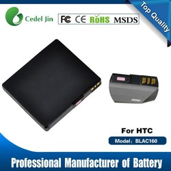 li-ion battery 3.7v 1400mah, BLAC160 battery for HTC Touch HD/T8282/T8288