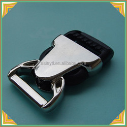 plastic and metal side release buckle for bags