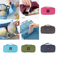 Women Lady Travel Makeup Wash Storage Case Underwear Bra Organizer Lingerie Bag