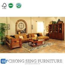 Professional FoShan Factory Brand simple designs pastoral feeling woodwork SOFA