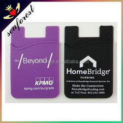 silicone smart wallet/3m adhesive sticker silicone card holder