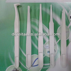 stainless electronic tweezer/Tweezers For Hand Tools/Conductive Plastic Tweezers