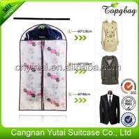 Quality hot selling pvc floral garment bag