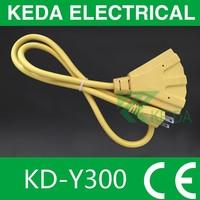 American / Canada AC power cord UL plug 3 pin copper cables wire