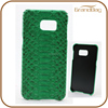 Green Genuine Python Skin Snakeskin Leather Phone Case for Samsung Galaxy S5