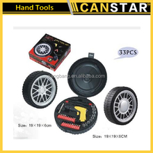 High quality 33pcs tire shaped hand tool set for promotion