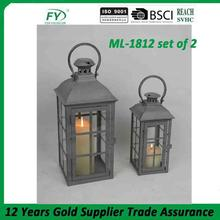 Fashionable design tea light lantern ML-1812 set of 2