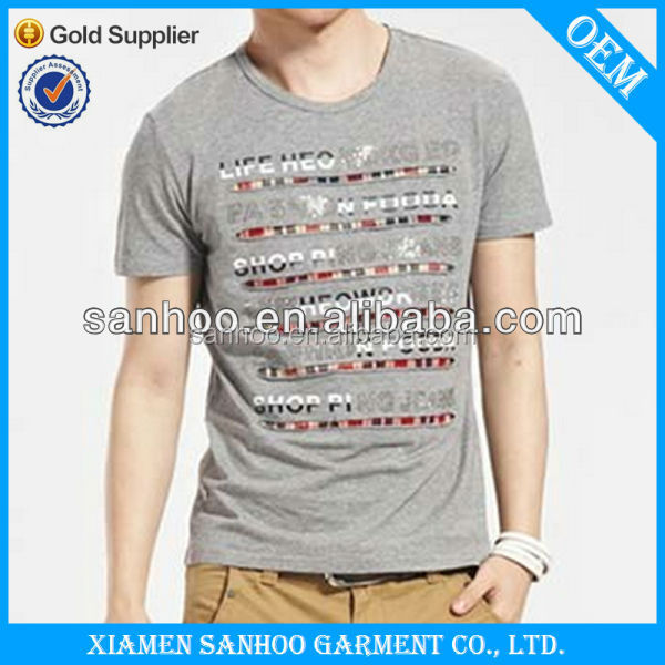 Fashion Tight Fit Gym T Shirt Cheap For Men Top Quality