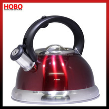 2.6L 201Stainless Steel Red Colour Whistling Kettle Tea Kettle