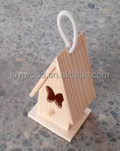 decorative hanging wooden bird nest