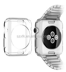 china wholesle transperancy clear silicone smart watch phone case