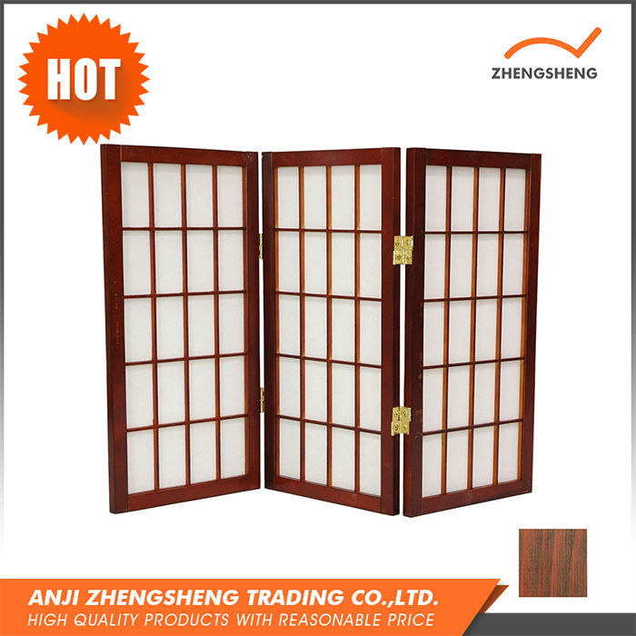 Cheap soundproof restaurant folding screen wooden room for Cheap decorative screens