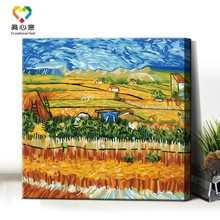 abstract oil painting coloring by numbers