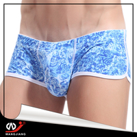 mini men underwear wholesale price cream for sex girls in white boxer briefs