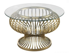 CN8028 s shape glass arabic coffee table for sale