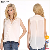 V neck ladies western tops new fashion tops