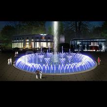 LED light round underground music dancing water fountain
