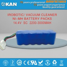 KAN 14.4V 12*SC 2200mAh Ni-MH rechargeable battery for robotic vaccum cleaner