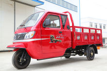 Powerful three wheel motorcycle, close cabin cargo tricycle