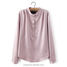 Oem plus size modelo blusa para uniforme 2015 mulheres manga comprida blusa