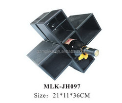 Good quality best selling cardboard leather wine carrier box