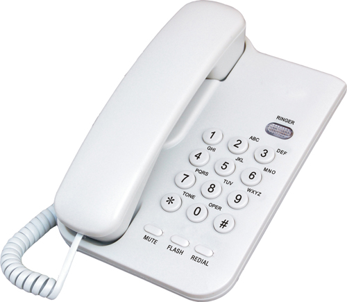 Office basic analog corded wired clean room telephone for Home telecom