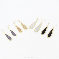 12 Pairs A Lot Four Colors Mixed Wholesale 2015 Most Popular Alloy Earrings,Multicolor Glitter Fashion Earring