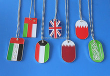 2015 hot new engraved UK/Oman/Kuwait flag dog/pet tags for National day gifts wholesale