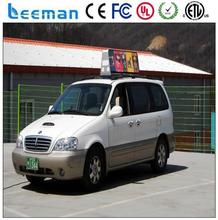 new promotion price outdoor p6 advertising led display glare top taxi sign led taxi display led top roof sign for taxi